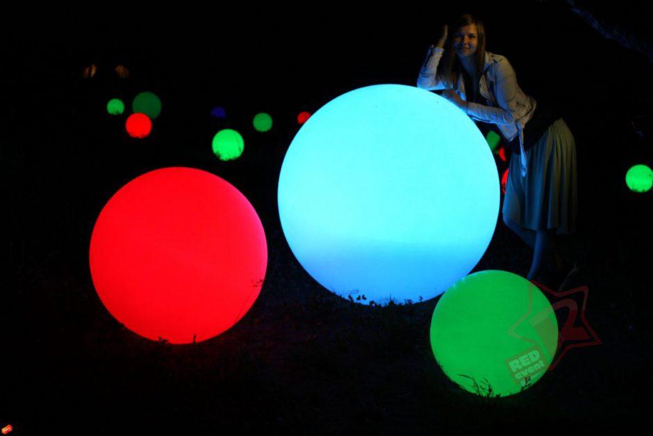 Аренда светящихся шаров 120 80 50 30