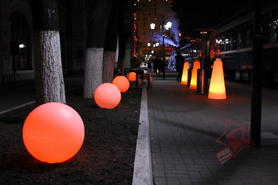 светящийся шар 50 см в аренду