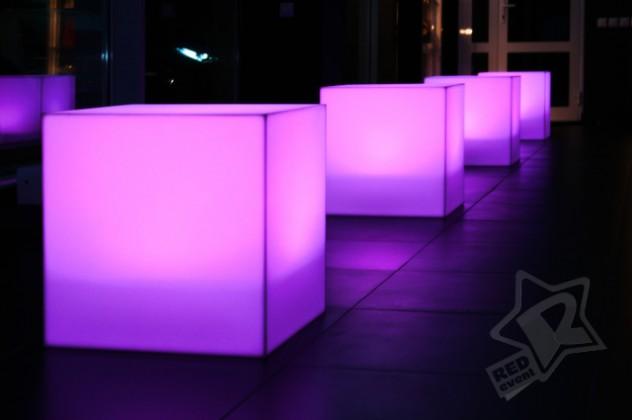 Куб с подсветкой 45 см
